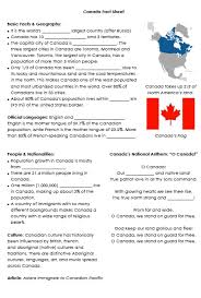 culture of english speaking countries fact sheet canada