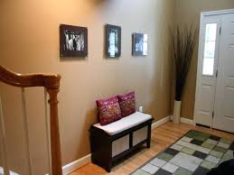 Entryway Furniture Ikea by Foyer Entrance With Concrete Console Table And Custom Bench