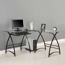 Desks Office by Use Glass Furniture For A Sophisticated Look Modern Glass Desk