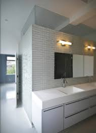 picture of the marble furniture in the modern minimalist bathroom