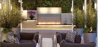 modern double sided fireplace fires hanging amp suspended