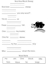 nursery rhymes worksheets free worksheets library download and