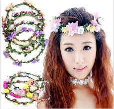 girl flower headbands festival wedding garland headwear children s
