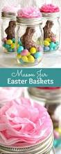 easter decorations to make for the home mason jar easter baskets a cute gift idea that takes minutes
