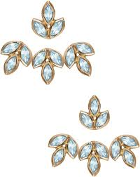 eddera earrings romy aquamarine ear jacket earrings by eddera at i designer