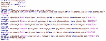 Oracle Create Table Example Comparison Of Teradata And Oracle Sqls