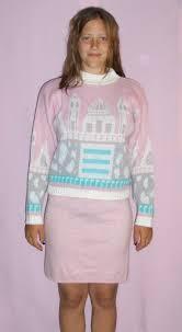 sweater skirt 80s miniskirt sweater skirt set bobbre1 on artfire