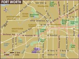 fort worth map map of fort worth