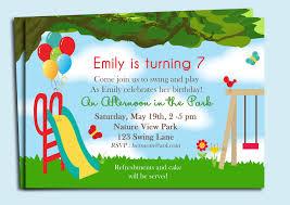 park playground birthday invitation printable or printed with