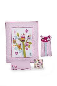 Zutano Crib Bedding Zutano Owls 4 Crib Bedding Set Pink