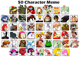 Meme Character - my 50 character meme exle by koopakidds on deviantart
