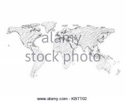 world map 3d pencil sketch multi color stock photo royalty free