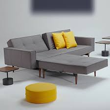 innovation sofa innovation splitback chrome grey mixed 521 schlafsofa mit