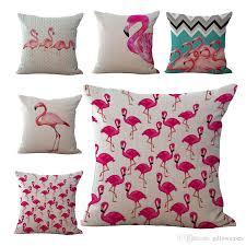 Sofa Pillow Cases Birds Flamingo Throw Pillow Cases Cushion Cover Pillowcase Home