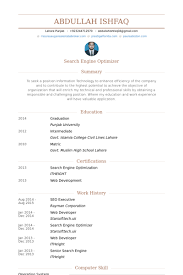 seo executive resume samples visualcv resume samples database