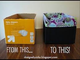 diy diaper box into a gorgeous storage box youtube