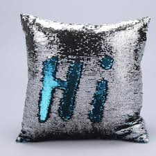 cushion covers for sofa pillows aliexpress com buy 40cm 40cm diy two tone glitter sequins square