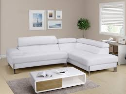 canape cuir blanc canapé d angle en cuir blanc littoral angle droit pas cher leds