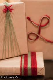 cheap gift wrap inexpensive gift wrap ideas using yarn the shady acre