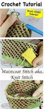 waistcoat stitch aka knit stitch crochet stitch tutorial nickis homemade crafts jpg