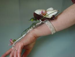 how to make a wristlet corsage orchid wrist corsage