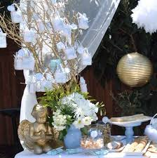 Angel Decorations For Baby Shower Angel Themed Baptism Baptism Party Ideas Photo 9 Of 21 Catch