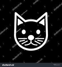 cat simple vector icon black white stock vector 653502946