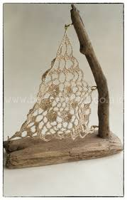 crochet sail driftwood boat small handmade from locally collected