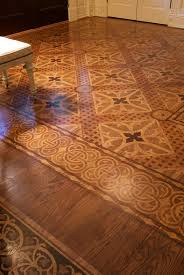 stenciled wood floors stencil floor painted wood floors