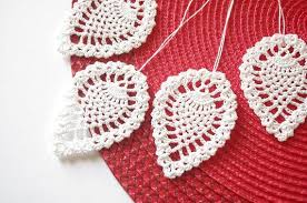 crochet christmas ornaments hanging christmas decorations white