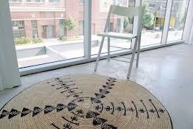 accent rug round natural fiber rug on afrimod