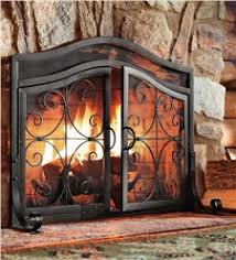 fireplace screens with doors plow hearth