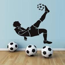 deco chambre foot obtenir en ligne à bon marché football silhouette sticker