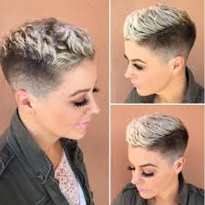 short frosted hair styles pictures all sizes textured pixie with taper fade and platinum frosted
