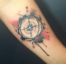 50 impressive compass tattoos designs and ideas 2018