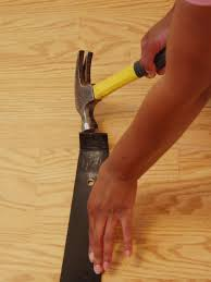 Blade For Cutting Laminate Flooring How To Install A Laminate Floating Floor How Tos Diy