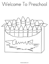 preschool coloring pages school welcome to preschool coloring page twisty noodle