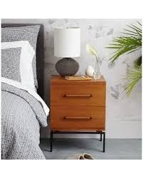 West Elm Bedroom Furniture Sale Deal On West Elm Nash Metal Wood Nightstand 2 Drawer Teak