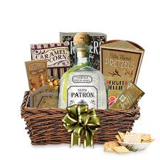buy patrón silver tequila gift basket
