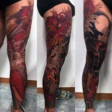 Guys Calf - with negative space moon guys leg sleeve