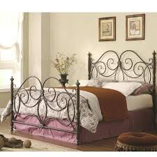 wrought iron queen bed frame medium size of size metal bed antique