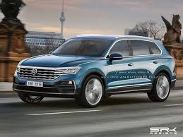 next gen 2018 vw touareg rendering cars daily updated
