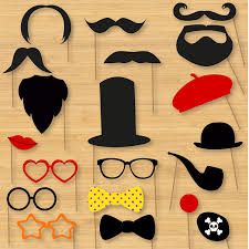 diy photo booth props classic moustaches beards glasses