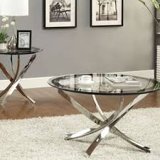 glass coffee tables exquisite glass and metal coffee table sets