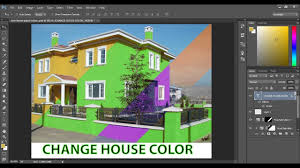 change the color of your house in adobe photoshop cc to paint your