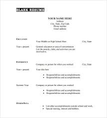 blank resume formats blank cv templates awesome blank resume format free