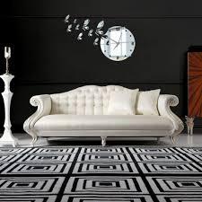 Moderne Wohnzimmer Design Hausdekorationen Und Modernen Möbeln Schönes Wanduhren