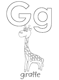 g is for giraffe coloring pages alphabet alphabet coloring pages