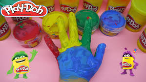 Paint Colorful - play doh finger painting colorful hand rainbow learn colors for