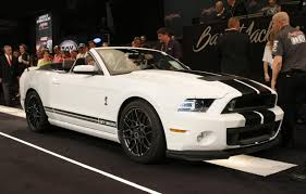 2014 Black Mustang Ford U0027s Final 2014 Shelby Gt500 Convertible Sells For 500k At Auction